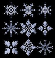 Copos de nieve vector
