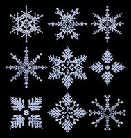 Vector snowflakes