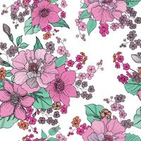 Floral seamless background. Flower pattern.