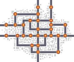 mapa del metro vector