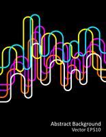 Neon waves abstract background