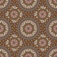 Abstract mosaic tile pattern. Oriental geometric circular ornament