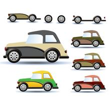 Colored cars vector