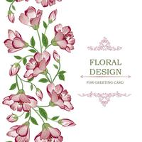 Floral seamless border garland pattern. Flower background.