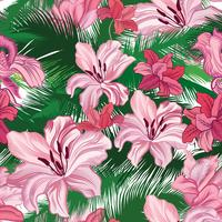 Floral pattern sans soudure. Fleurs tropicales. Fond style jungle