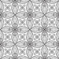 Floral seamless pattern. Linear ornament. Abstract background vector