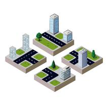 3D vector city