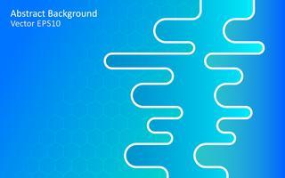 Blauer abstrakter Vektorhintergrund, Schablonendesign