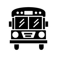 Bus Glyphe Schwarze Ikone