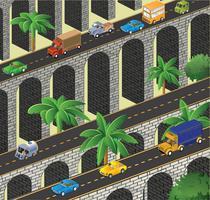 Isometric vector road