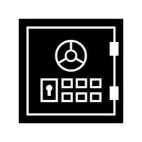 Safebox Glyph Black-pictogram