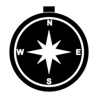 Compass Glyph Black Icon