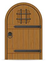 old wooden door vector illustration