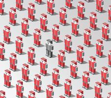 robôs de vetor
