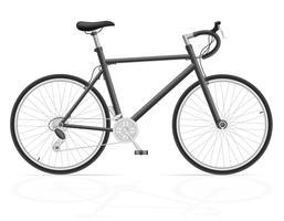 bici da strada con ingranaggi illustrazione vettoriale