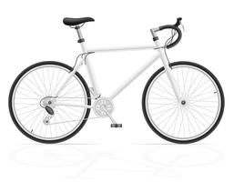bicicleta de estrada com ilustração em vetor deslocamento de engrenagem