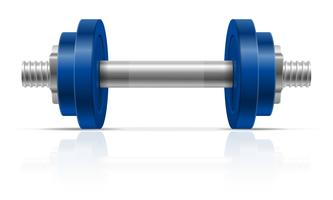 metal dumbbell for muscle building in gym vector illustration
