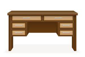 wooden table furniture vector illustration