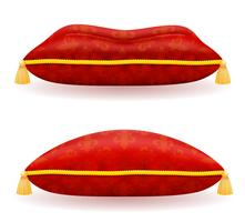 red satin pillow vector illustration