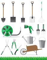 set garden tool vector illustration
