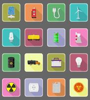 power and energy flat icons flat icons vector illustration
