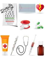 icon medical set vector