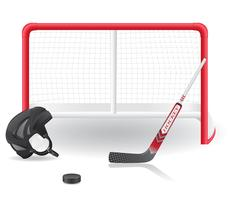 illustration de hockey set vector