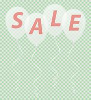 transparent white balloons with the inscription sale vector illustration