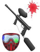 paintball set vektor illustration