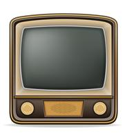 tv old retro vintage icon stock vector illustration