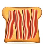 toast med bacon vektor illustration