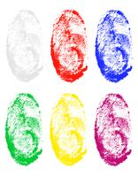 fingerprint of different colors vector illustration