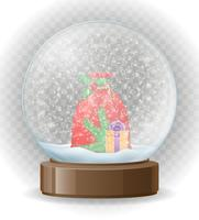 snow globe transparent vector illustration