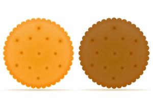 illustration vectorielle biscuit biscuit biscuit