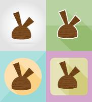 ice cream flat icons vector illustration