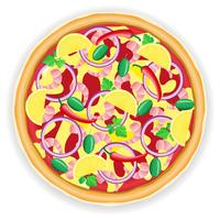 pizza vectorillustratie