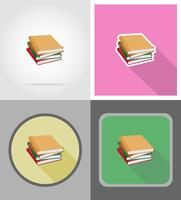 boek plat pictogrammen vector illustratie