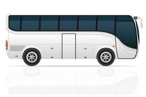 illustrazione vettoriale di grande tour bus