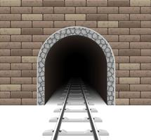 railway tunnel vector illustration