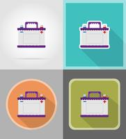 bil batteri platt ikoner vektor illustration