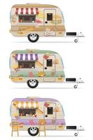 fast food trailer vector illustration