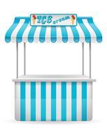 Comida callejera puesto helado ilustración vectorial