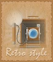 retro style poster old camera photo vector illustration