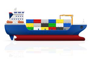 nautical cargo ship vector illustration