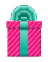 presentförpackning med en båge vektor illustration