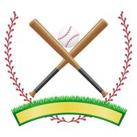 baseball banner emblem vector illustration