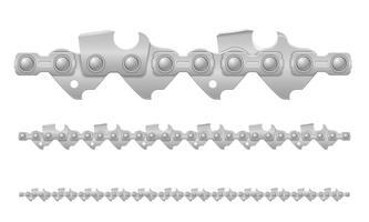 Kettensäge Kettenmetall und scharf geschärfte Vektor-Illustration