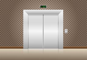 elevator doors closed vector