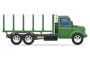 camion de fret pour le transport de marchandises vector illustration