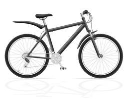mountainbike met versnelling verschuiving vectorillustratie